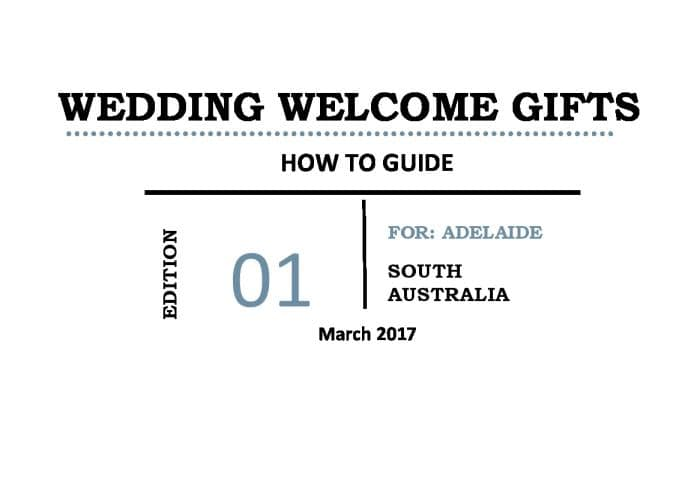Anatomy of an Australian Wedding Welcome Bag