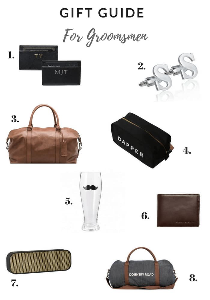 Great gift ideas for your best man